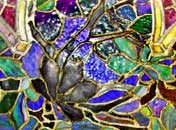 complexity of glass design and foiling in Tiffany's work